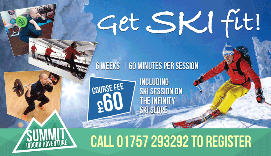 Ski Fit starts soon. Book now at reception!
