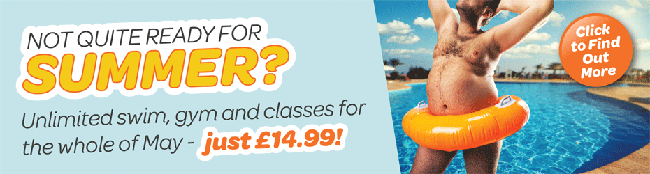 Not quite ready for summer? Use our leisure centres for the whole of May for just £164.99!