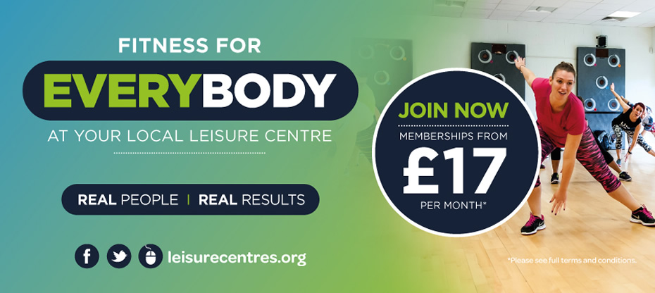 Fitness for Everybody -- at your local leisure centre