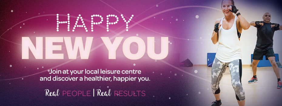 Happy New YOU -- join at your local leisure centre and discover a healthier, happier you